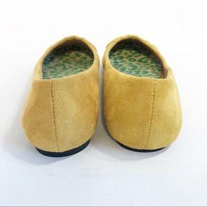 50f3279afd6 Ollio Shoes - Ollio Bree Ballet Suede Flat Mustard Yellow